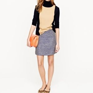 J.Crew POSTAGE STAMP MINI IN NAVY TWEE